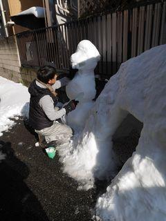 雪だるまつくーろー♪_c0223192_22182186.jpg