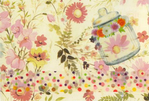 お花のコラージュカードでお便りしました_a0275527_23425252.jpg