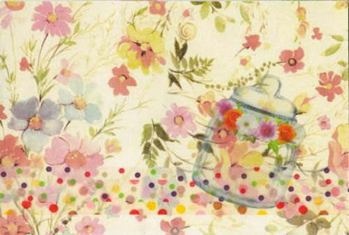 お花のコラージュカードでお便りしました_a0275527_23425259.jpg