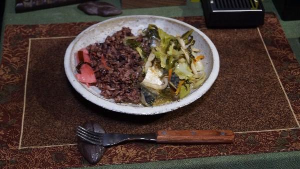 夕飯は鯖の野菜炒め_e0166355_19110430.jpg