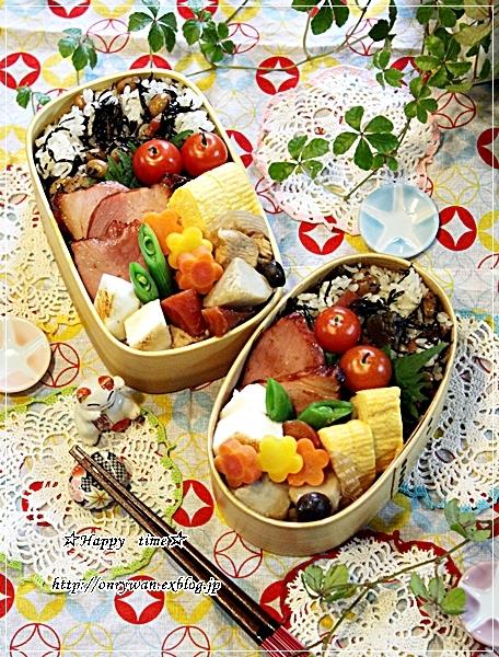 ひじきご飯弁当と今夜はハンバーグ♪_f0348032_18121834.jpg
