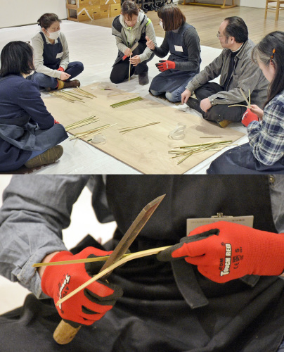 たのしい実技講座[竹を編む]を開催しました①_c0222139_15435746.jpg