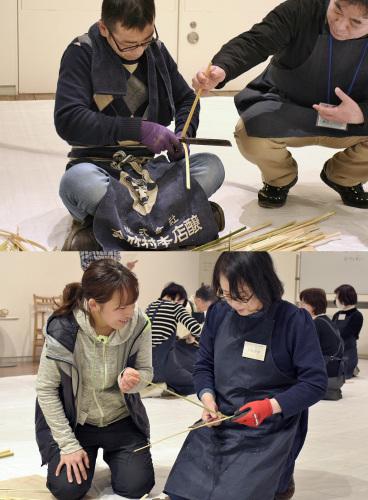 たのしい実技講座[竹を編む]を開催しました①_c0222139_15440502.jpg