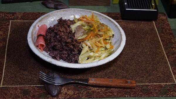 夕飯は本部牛の野菜炒め_e0166355_17540164.jpg