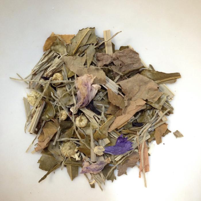 ハーブ茶作り、長ネギ、蕗味噌_b0087077_17474331.jpg