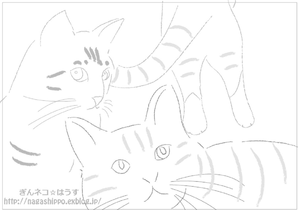 ぎんネコ☆はうすのネコの塗り絵_a0333195_17043507.jpg