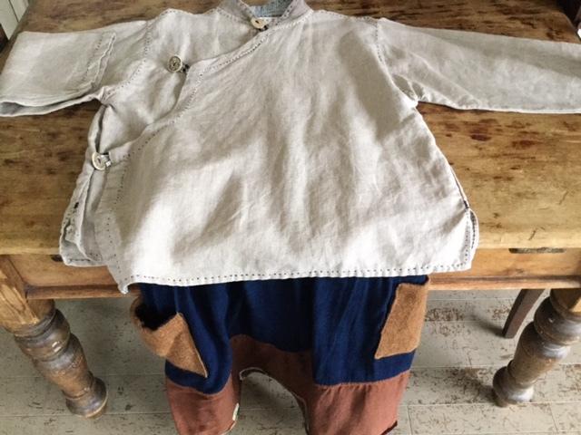 麻メオ族農民服&藍染め手織りスカート_b0207631_11141371.jpg