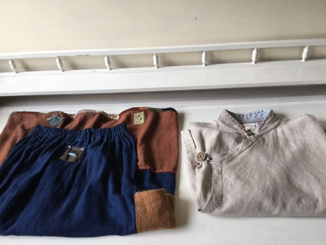 麻メオ族農民服&藍染め手織りスカート_b0207631_11183528.jpg