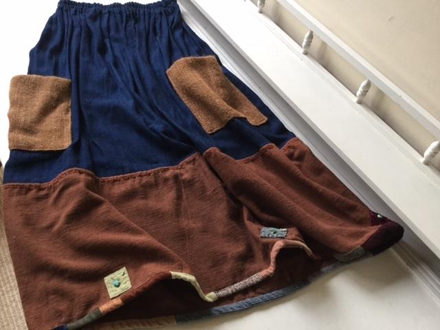 麻メオ族農民服&藍染め手織りスカート_b0207631_11220246.jpg