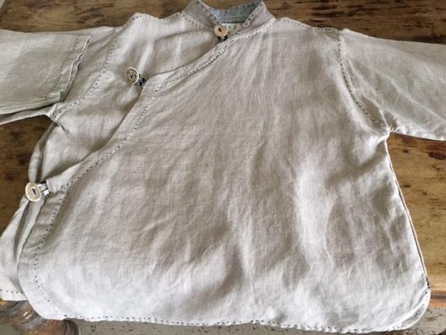 麻メオ族農民服&藍染め手織りスカート_b0207631_11305554.jpg