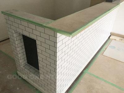菱江モデル キッチンのクロスが完成!_e0251265_16314116.jpg