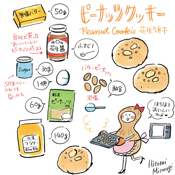 【手作りお菓子】ピーナッツ粉でピーナッツクッキー作ったヨ【岩塩とバターピーナッツが良いアクセント】_d0272182_13290008.jpg