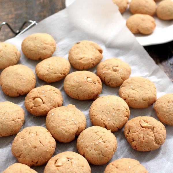 【手作りお菓子】ピーナッツ粉でピーナッツクッキー作ったヨ【岩塩とバターピーナッツが良いアクセント】_d0272182_13290703.jpg