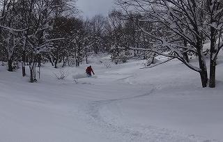 荘川の火山1379m新雪滑降_e0064783_21124194.jpg