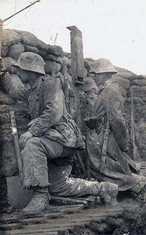 西部戦線のドイツ兵 1916年 : Colorized War and Peace ~モノクロ写真 ...