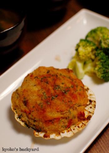 大根と豚肉の煮物。ホタテのパン粉焼き。_b0253205_03451642.jpg