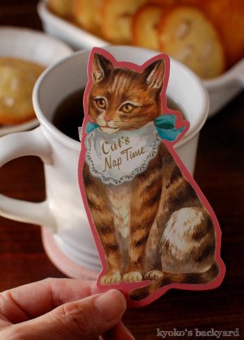 マドレーヌと「猫」紅茶_b0253205_07222724.jpg