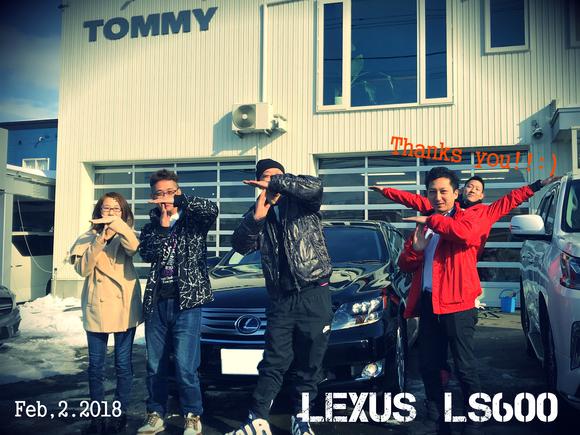 2月1日 木曜日のひとログ(´▽`) 本日YさまLS600納車♬ありがとうございます!ランクル、アルファード、ハイエース_b0127002_167516.jpg