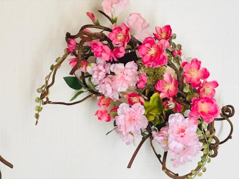 春のオーダーリース_a0153945_10421107.jpg
