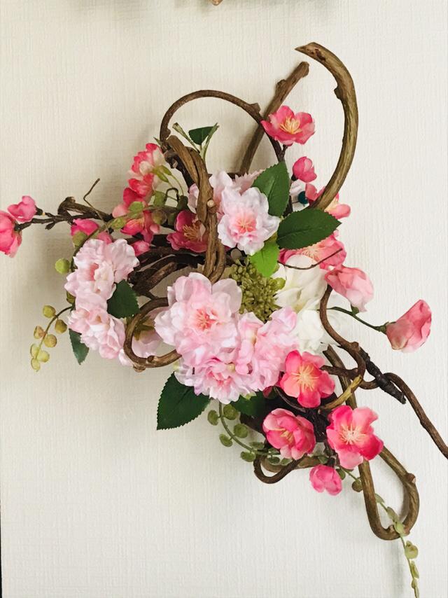 春のオーダーリース_a0153945_10421370.jpg