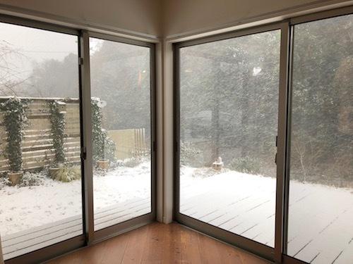 またも積雪 & 怪訝な顔のガーナさん_a0335560_18105389.jpg