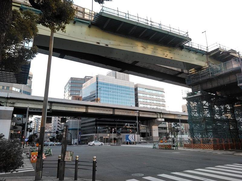 西本町交差点 橋梁架設完了_c0340867_22274640.jpg