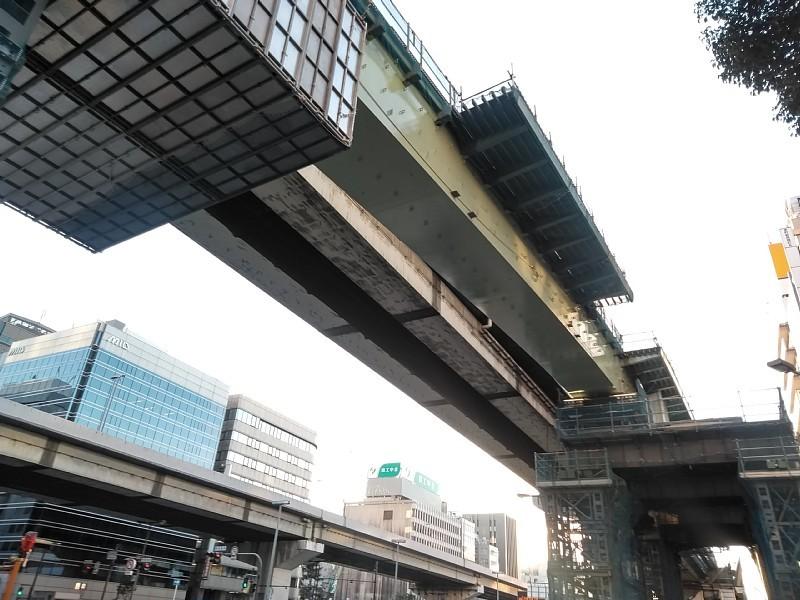 西本町交差点 橋梁架設完了_c0340867_22280155.jpg