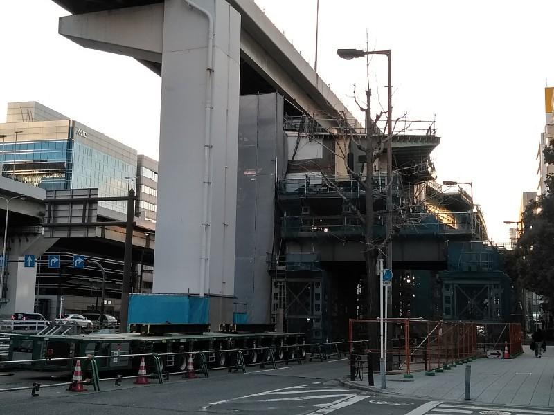 西本町交差点 橋梁架設完了_c0340867_22280613.jpg
