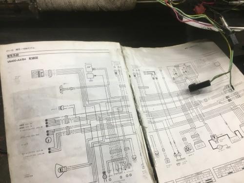 Y様バルカン 配線処理開始!_a0164918_20003642.jpg