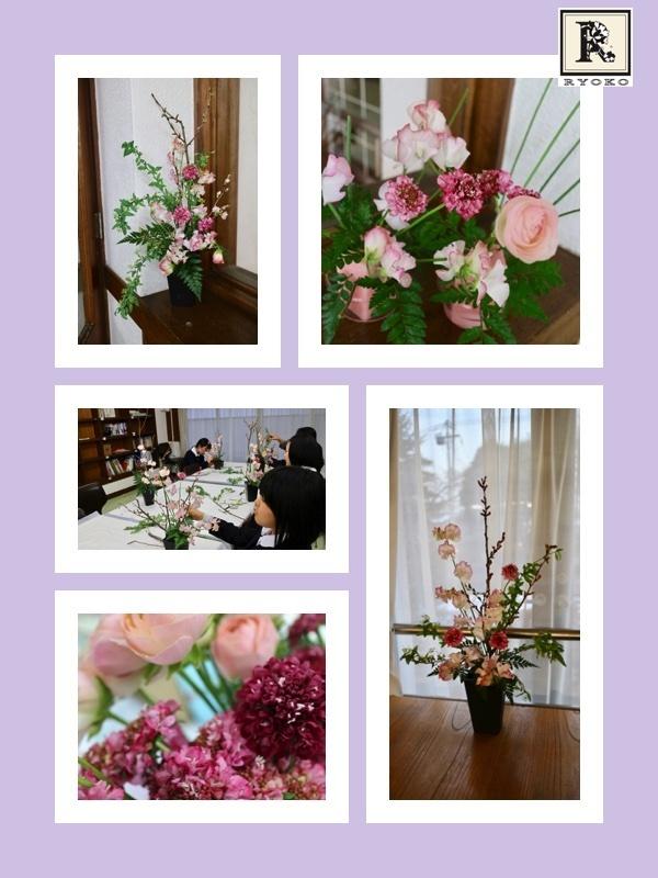 初めての枝物に挑戦しましたよ。 「お花のこよみ教室」_c0128489_11542145.jpg