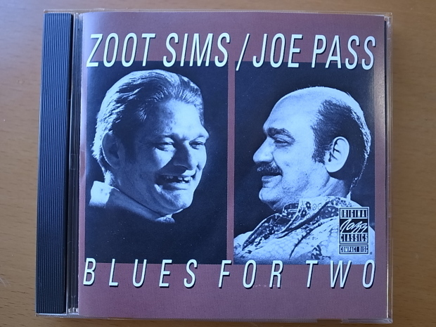 ZOOT SIMS/JOE PASS 「BLUES FOR TWO」ズート・シムズ&ジョー・パス「ブルース・フォー・トゥ―」_f0197703_11495337.jpg