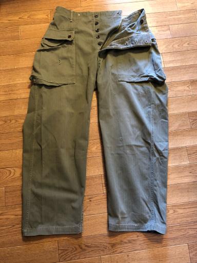 アメリカ仕入れ情報#4 U.S.M.C P-44 HBT Trousers モンキーパンツ!_c0144020_22441485.jpg
