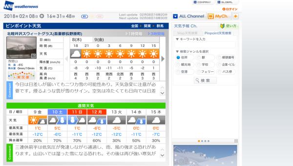 今週末の天気と気温(2月2週目):最高気温5℃、最低気温-12℃ほど_b0174425_16343060.png