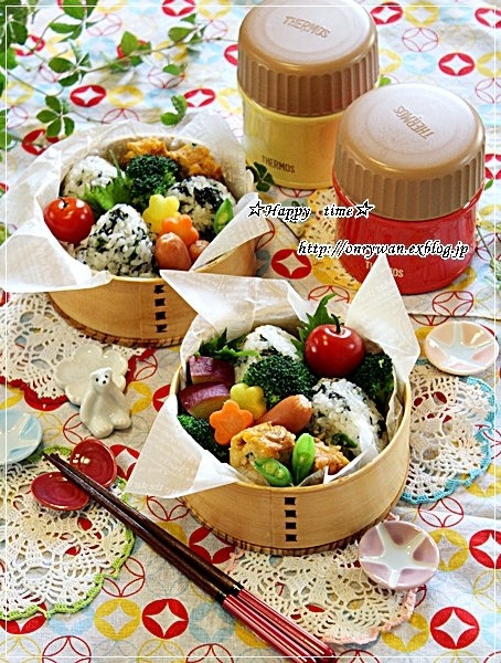 おでんと韓国のりおむすび弁当と今日のわんこと♪_f0348032_17210612.jpg