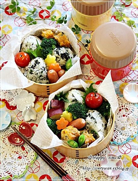 おでんと韓国のりおむすび弁当と今日のわんこと♪_f0348032_17211952.jpg
