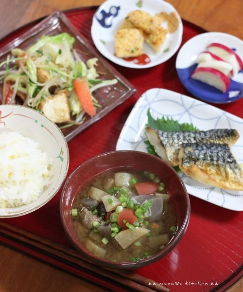 中華弁当 ✿ 具だくさん味噌汁(๑¯﹃¯๑)♪_c0139375_11261072.jpg