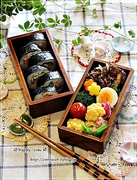 海苔巻き弁当とランチはとろろに買いチョコ♪_f0348032_18084455.jpg