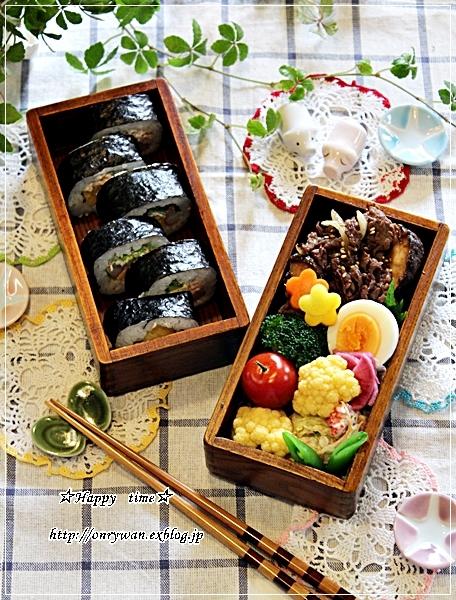 海苔巻き弁当とランチはとろろに買いチョコ♪_f0348032_18085417.jpg