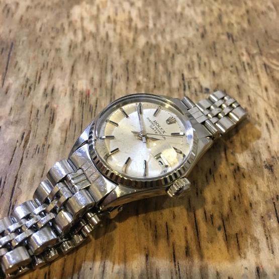ロレックス オイスターデイト レディース腕時計の修理_b0167617_23525576.jpg