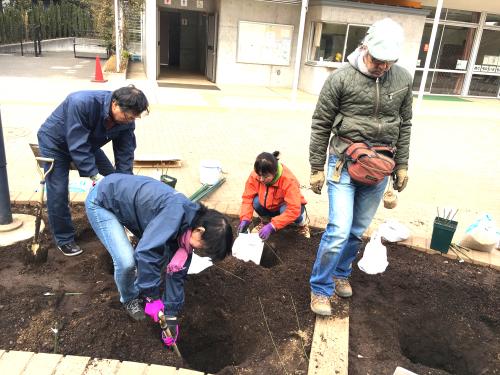 2018年2月の月例会「植え付け」駒場野公園拡張スペース_a0094959_21053457.jpg