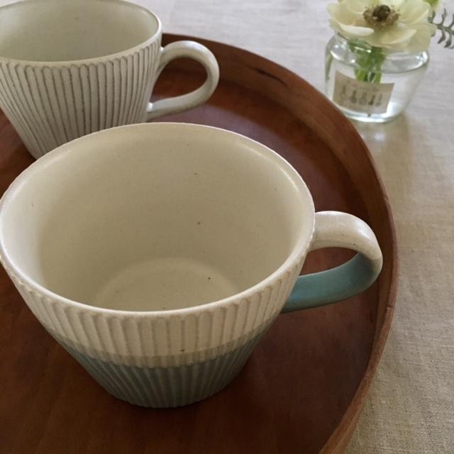 made in FUKUSHIMA  しのぎ技法のカップ_a0165160_15172574.jpg