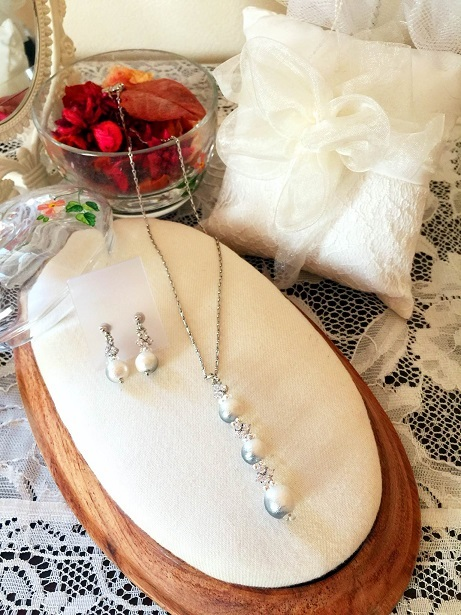 ❀Petit Cotton Pearl Necklace & Earrings❀_c0368764_13590490.jpg
