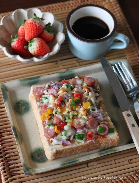 ショック(TДT)と怒り(゚皿゚メ) ✿ Pizza toast♪_c0139375_11573937.jpg