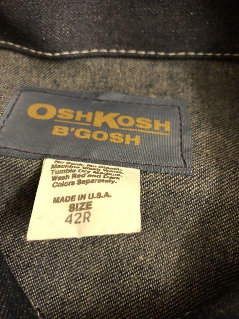 アメリカ仕入れ情報#15  80s~OSHKOSH DENIM JACKET !_c0144020_11425175.jpg
