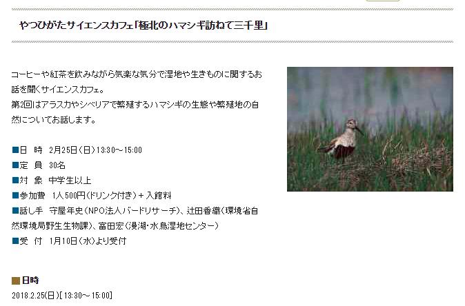 ★谷津干潟自然観察センターでハマシギのお話(2月25日)_e0046474_12261818.jpg