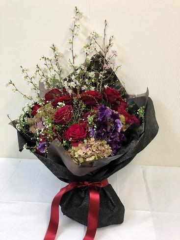 バレンタインデーの素敵な花束_a0152501_08524494.jpg