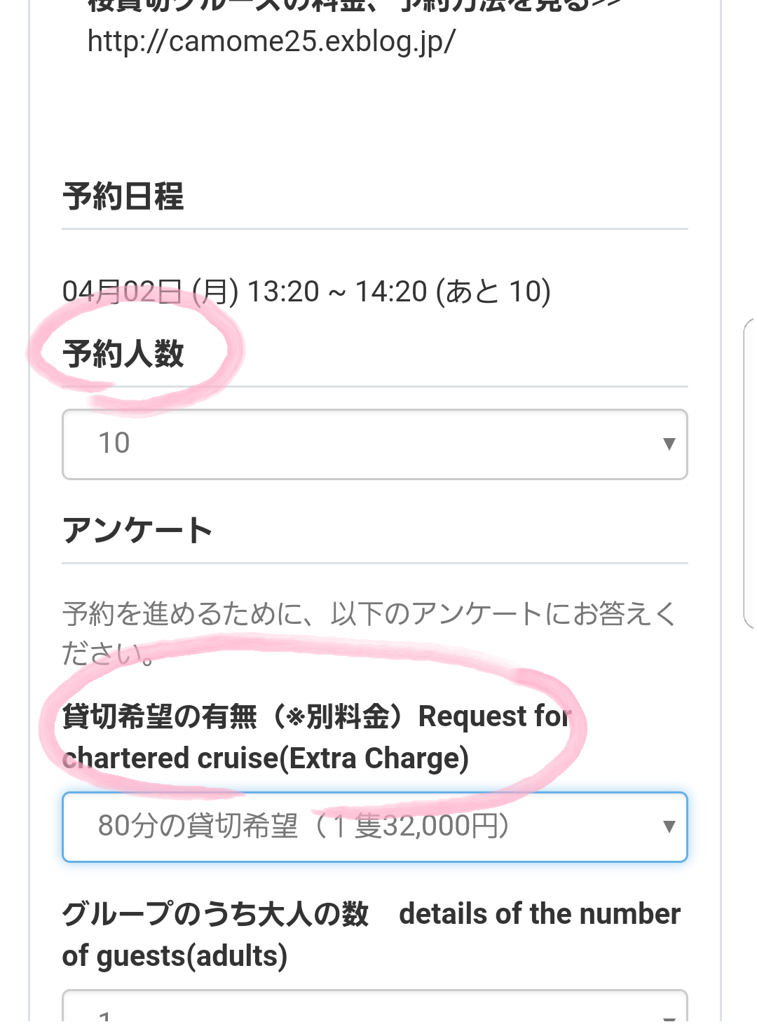 桜貸切クルーズの申込方法 How to book the chartered SAKURA_a0137142_11532661.png