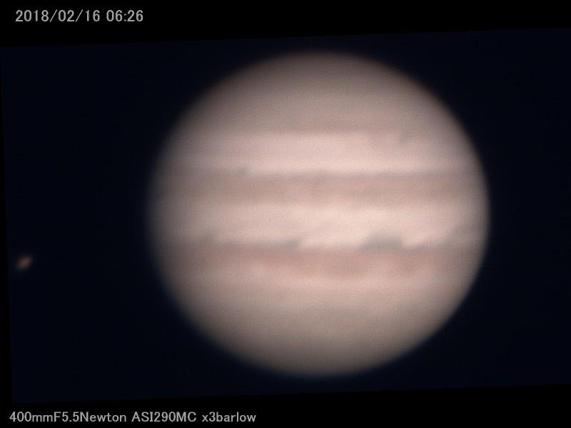 早起きして木星を撮ったんだが火星は撮り逃がした_a0095470_23564167.jpg
