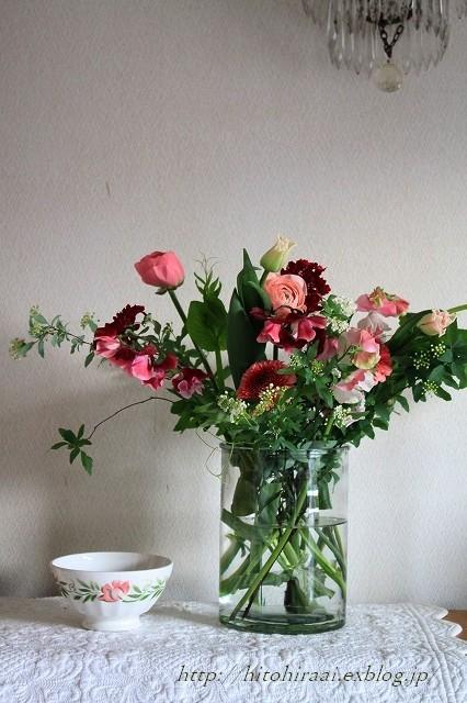 春を感じる花生け_f0374092_21412665.jpg