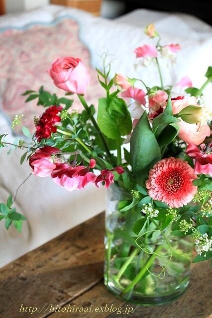春を感じる花生け_f0374092_21490328.jpg